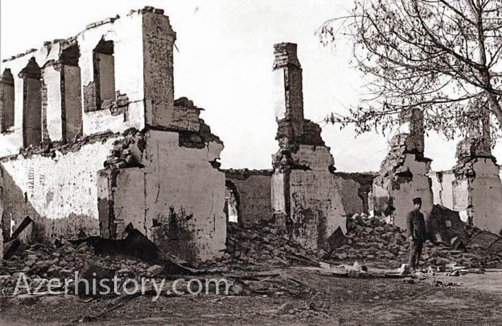 Последствия геноцида азербайджанцев в уездах страны в 1918 г. (ФОТО)