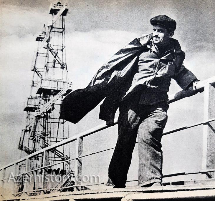 """Рабочие будни на """"Нефтяных Камнях"""" из альбома 1967 г. (ФОТО)"""