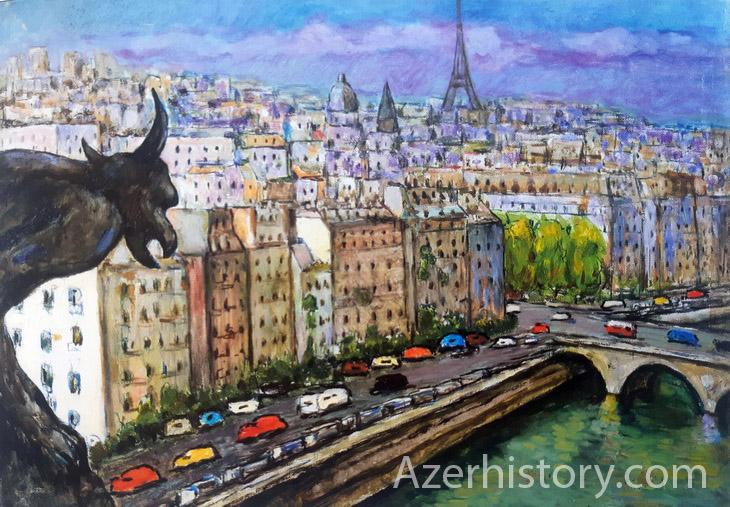 Франция 1985-1998 г. глазами известной художницы Халиды Сафаровой (ФОТО)
