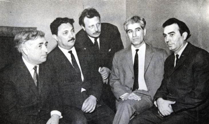 Редкие фото встреч писателя И.Эфендиева с членами Союза писателей Азербайджана