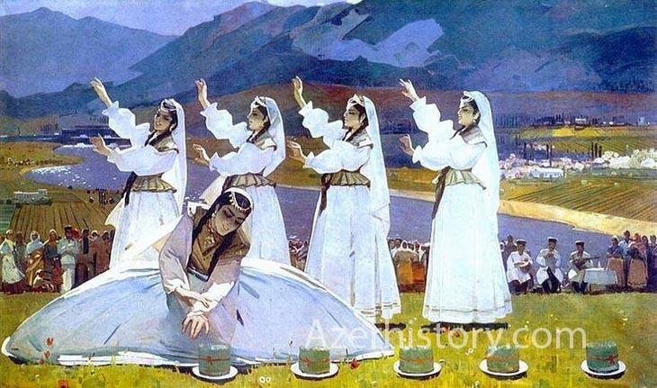 Азербайджанский танец в советской живописи, графике и скульптуре (ФОТО)