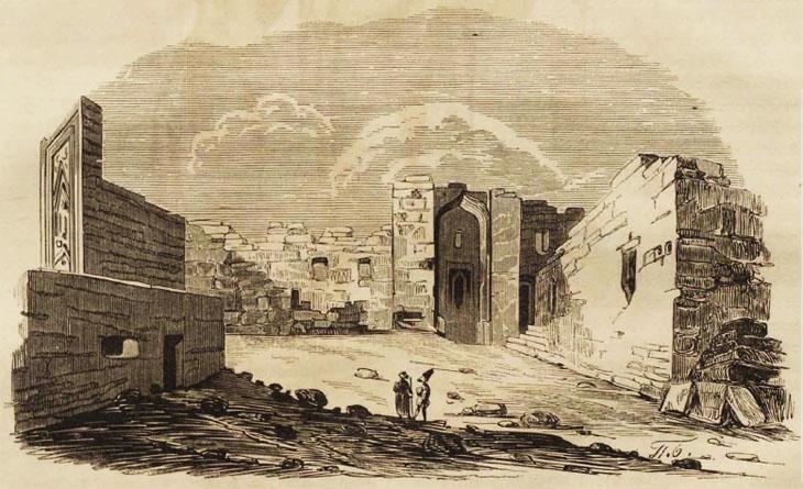 Баку в 1854 г.: описание шахского дворца и прогулка по базару