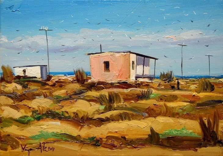 Дачи Абшерона на картинах азербайджанских художников (ФОТО)