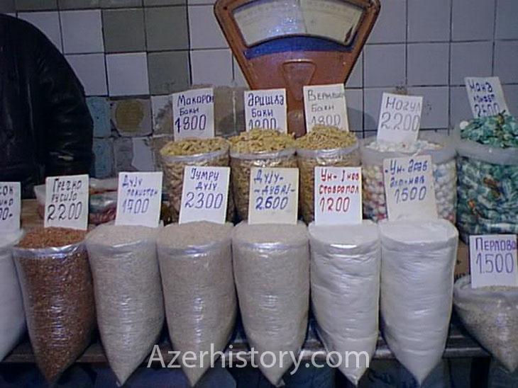 Газетные архивы: Продукты на любой вкус - продажа в Баку 1998-1999 гг. (ФОТО)