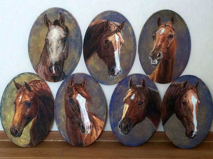 Прекрасные карабахские лошади на картинах латвийской художницы (ФОТО)